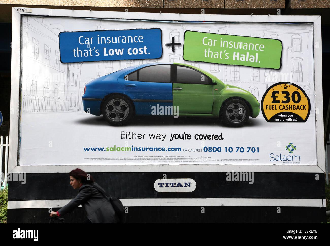Anzeige Fur Halal Kfz Versicherung East London Stockfoto Bild