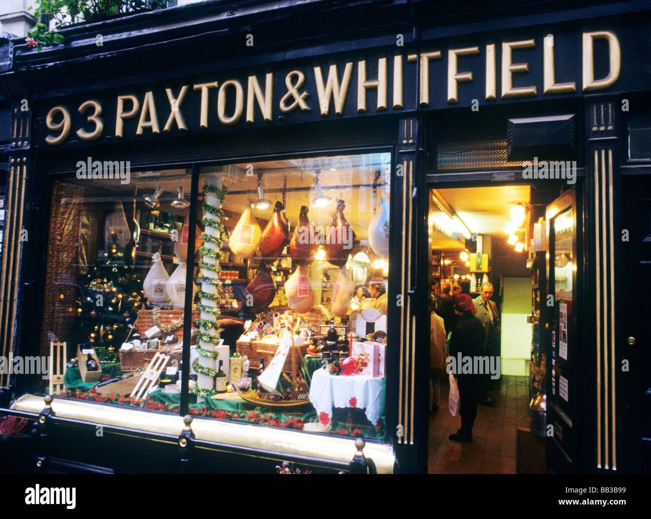 Paxton und Whitfield, Jermyn Street, London, Weihnachts-Fenster ...