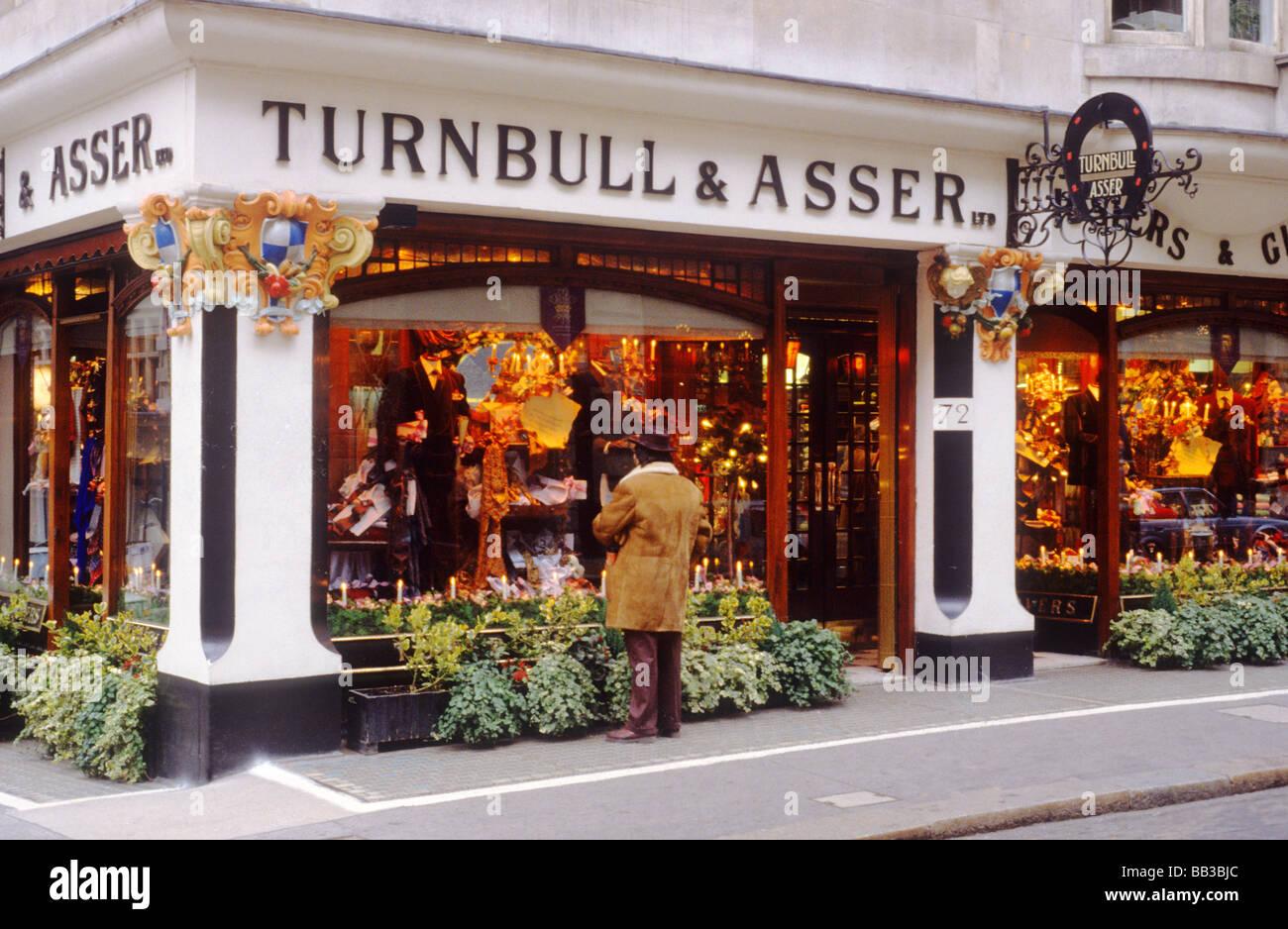 Turnbull und Asser Shirtmakers Hemden Jermyn Street, St. James ...
