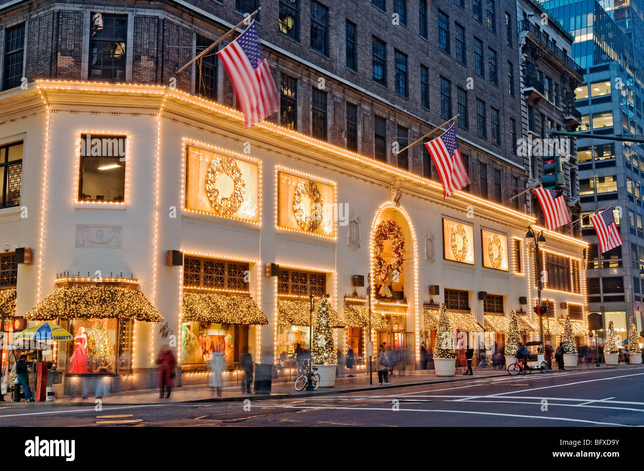 Weihnachten Windows auf Lord & Taylor New York City Fifth Avenue ...