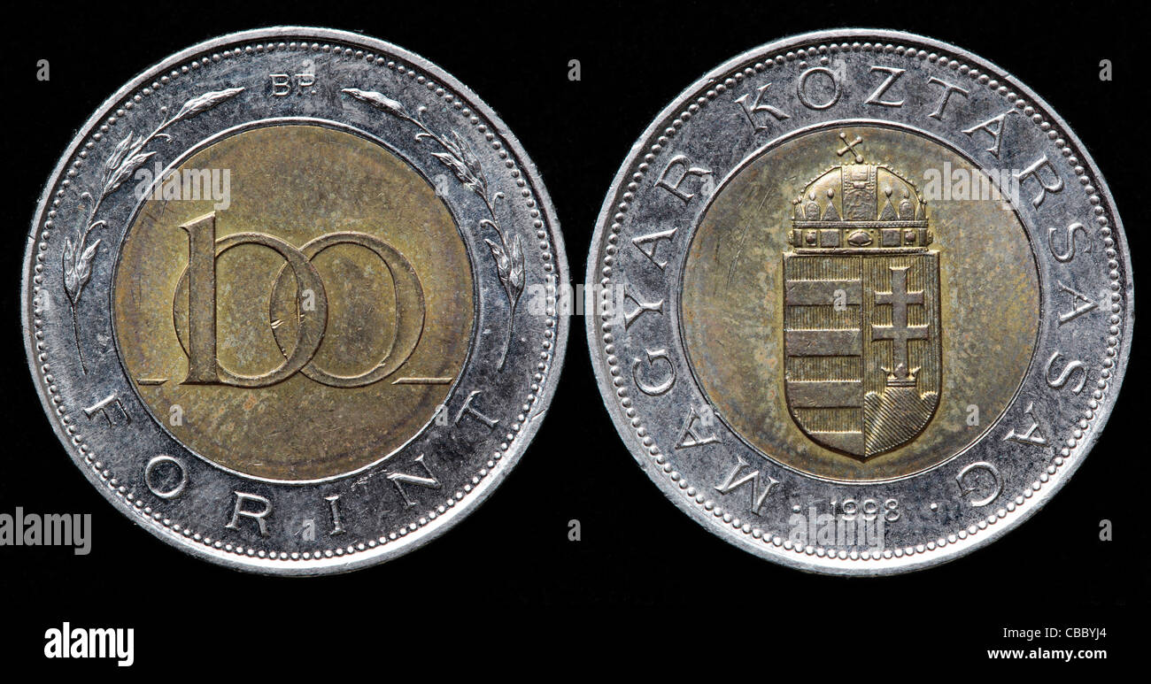 100 Forint Münze Ungarn 1998 Stockfoto Bild 41445100 Alamy
