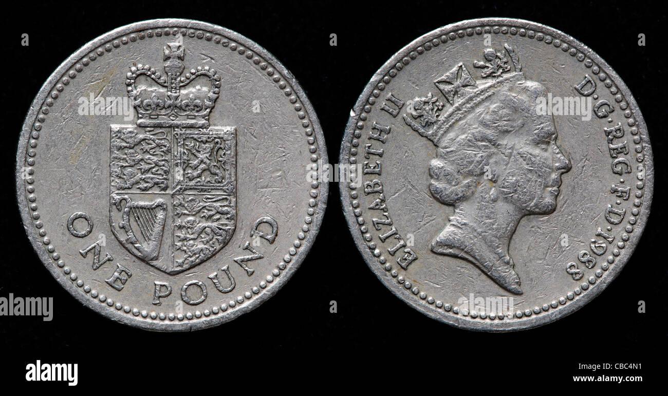 1 Pfund Münze Uk 1988 Stockfoto Bild 41449101 Alamy