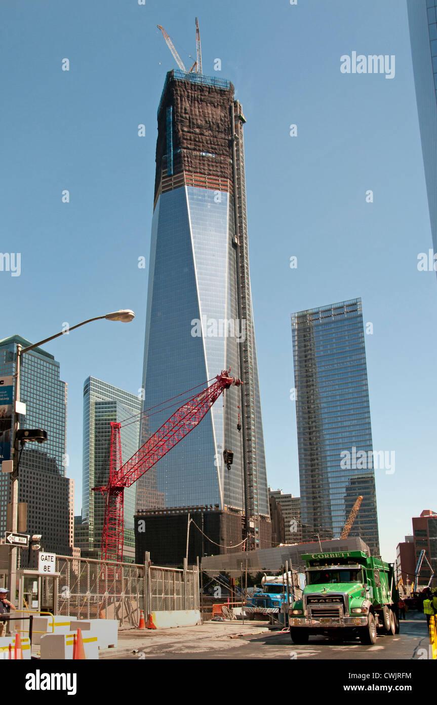 Financial Center Hintergrund Freedom Tower Oder Turm Ein World Trade