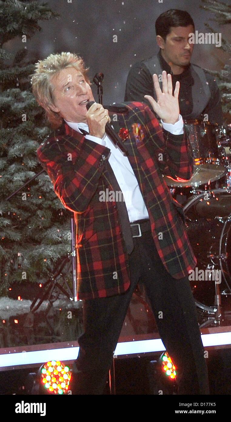 Britischer Rock-Sänger Rod Stewart tritt an das ZDF Telethon ...
