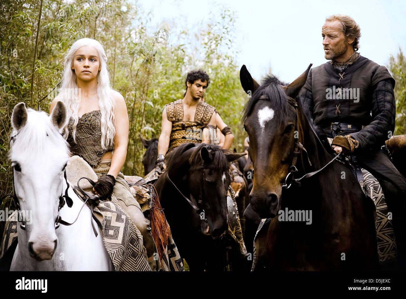 Emilia Clarke Elyes Gabel Iain Glen Game Of Thrones 2011