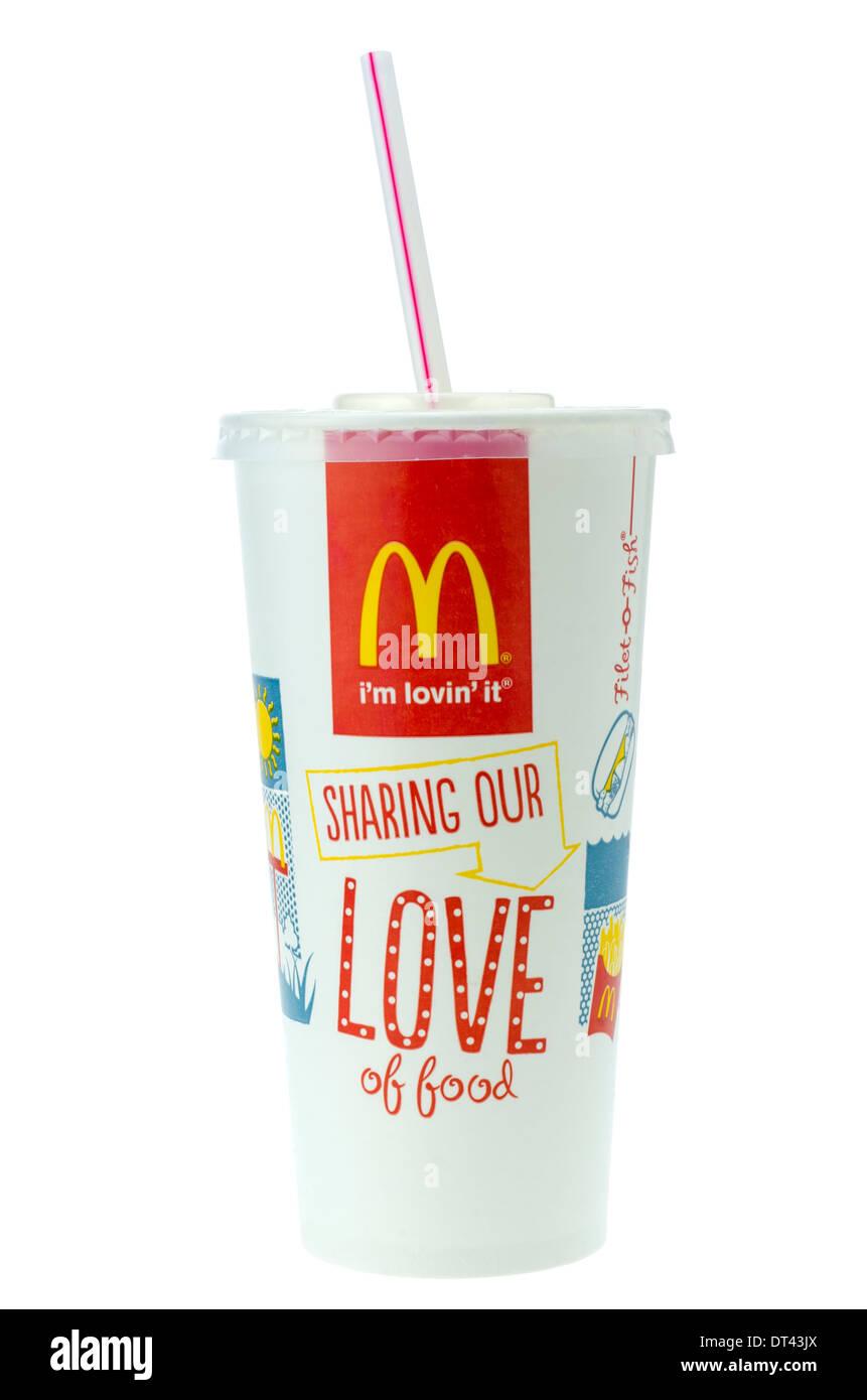 McDonald\'s-Cola-Getränk mit Stroh Stockfoto, Bild: 66473538 - Alamy