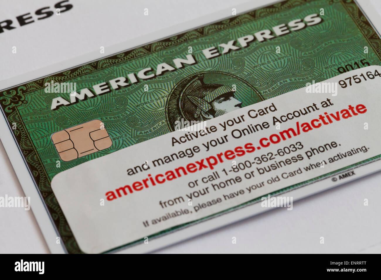 Neue American Express Karte Mit Aktivierungsinformationen Usa