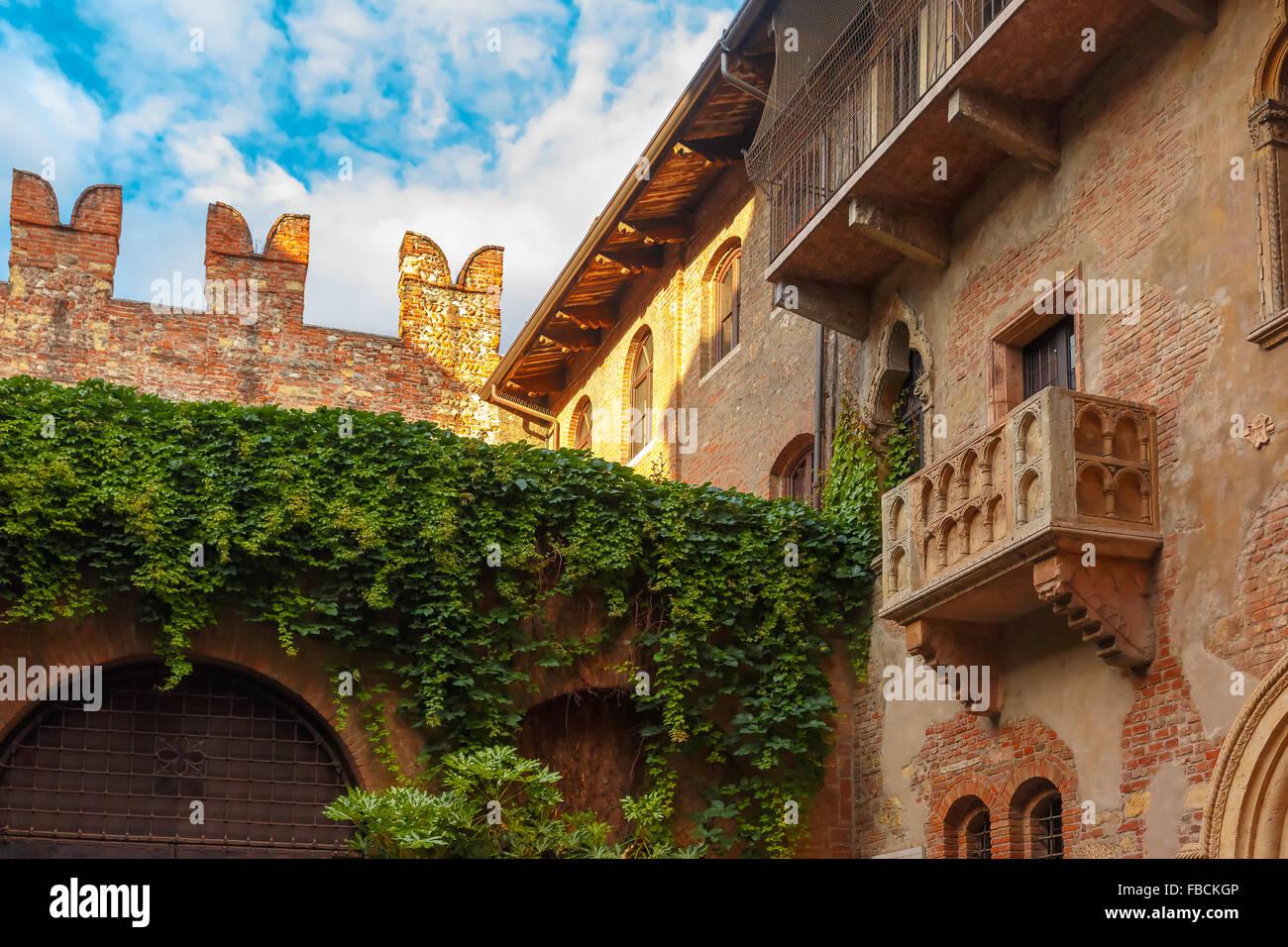 Romeo Und Julia Balkon In Verona Italien Stockfoto Bild 93091846