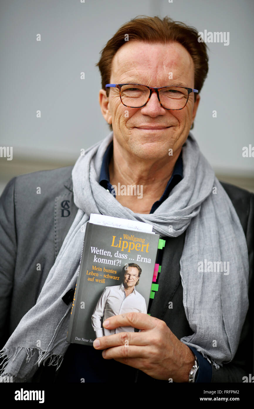 Leipzig Deutschland 18 März 2016 Deutsche Entertainer Wolfgang
