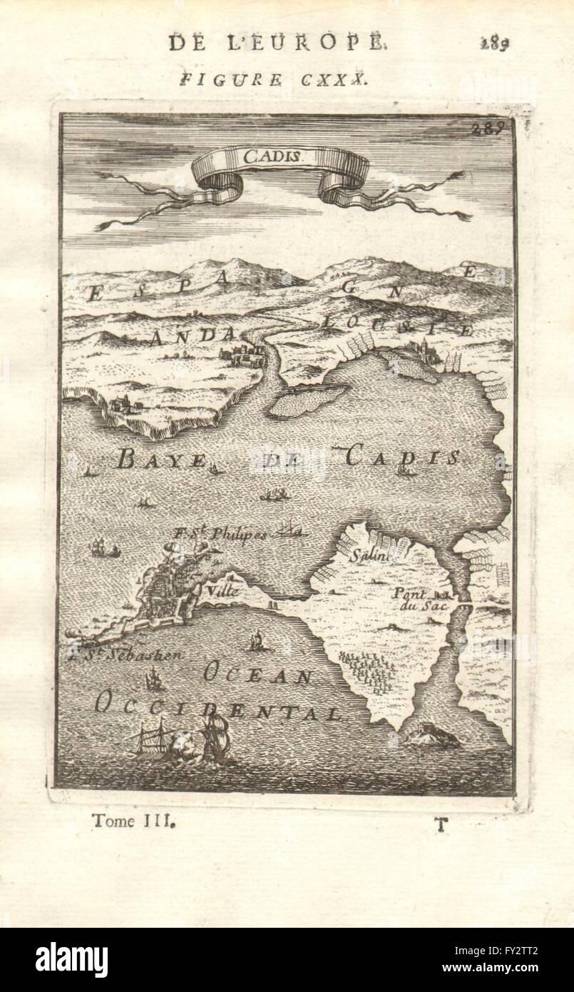 Karte Andalusien Cadiz.Cádiz Karte Von Der Stadt Hafen Von Cádiz Andalusien Spanien