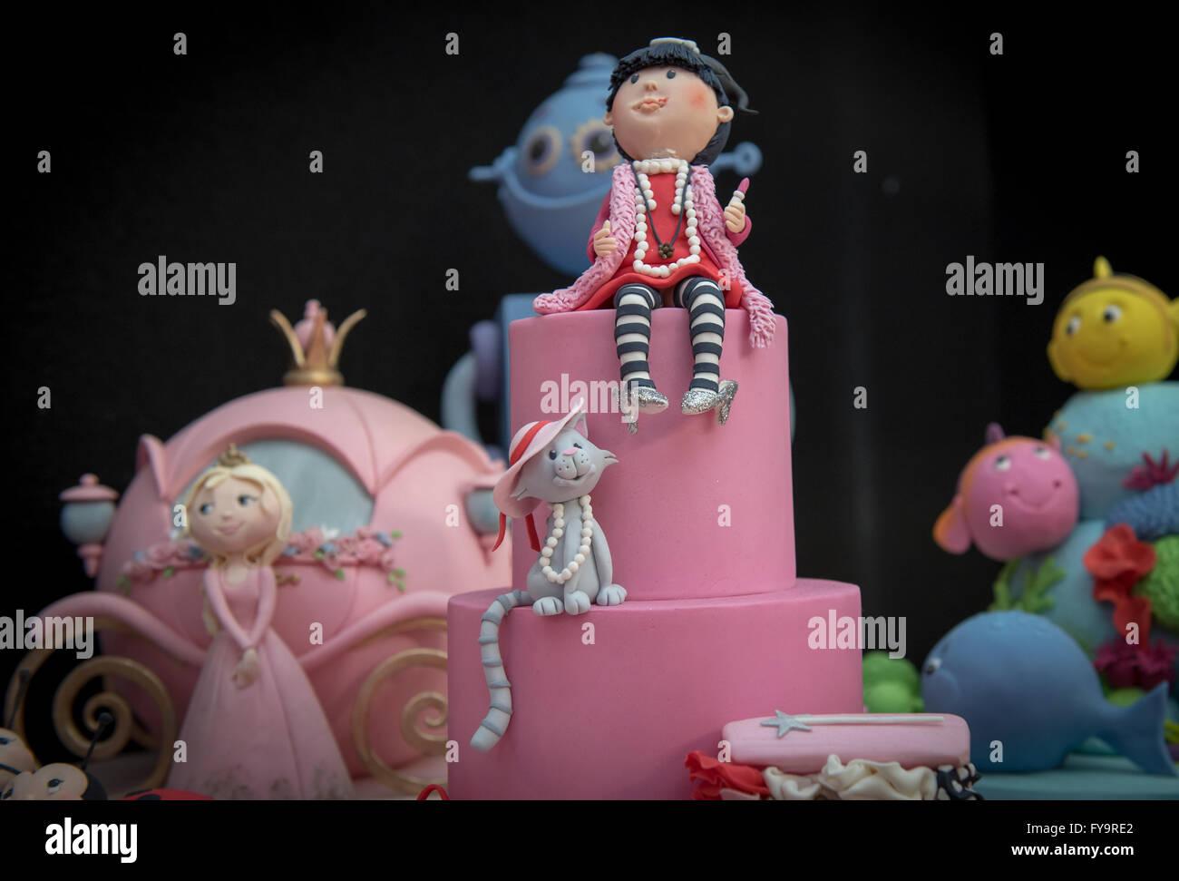 Madchen Katze Und Prinzessin Essbare Kuchen Dekorationen Kuchen