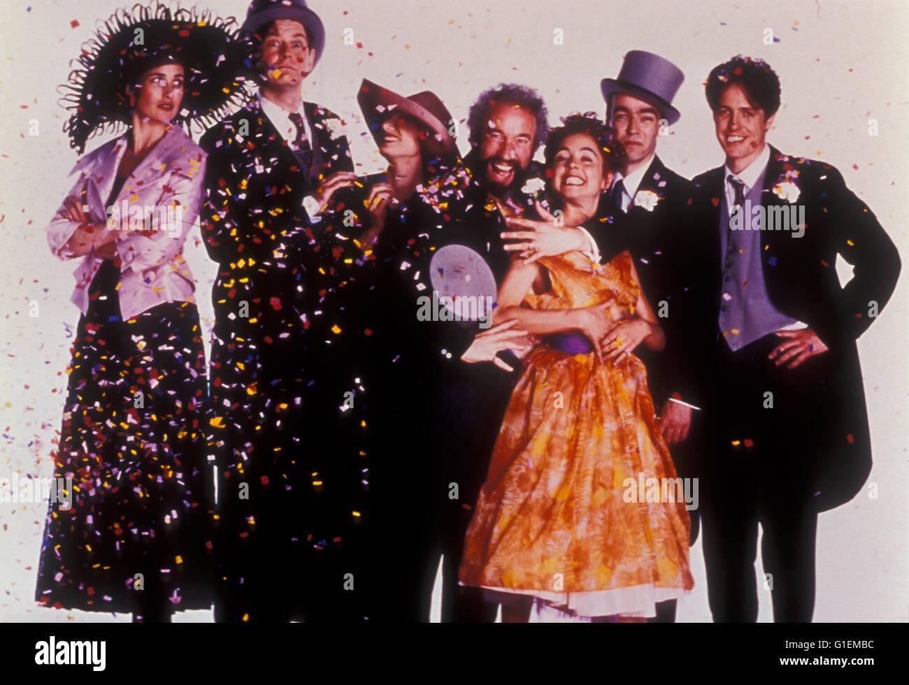 Vier Hochzeiten Und Ein Todesfall Hugh Grant Stockfoto Bild