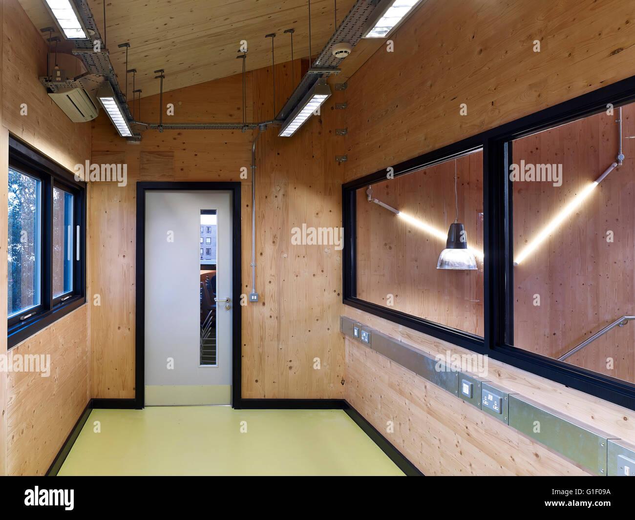 Schule Büro Interieur. Graveney Schule, Oberstufe Block, London ...