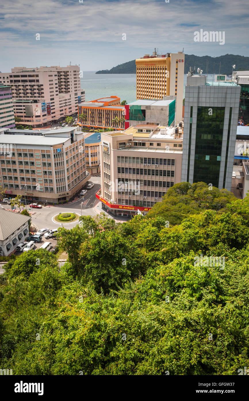Blick über Kota Kinabalu Sabah Malaysia Borneo Aus Der Sicht Auf
