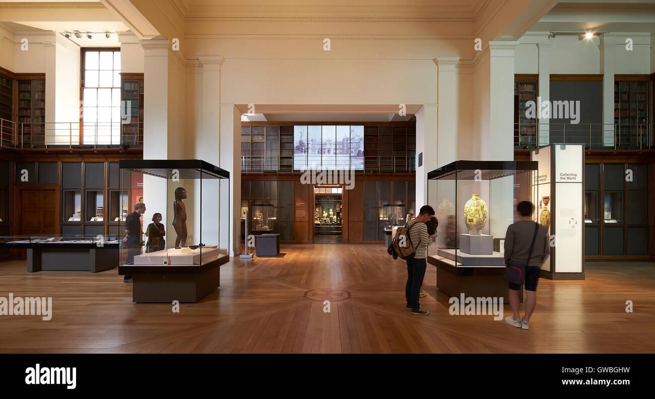 Doppelter Höhe Galerie Interieur mit Vitrinen. Waddesdon Vermächtnis ...