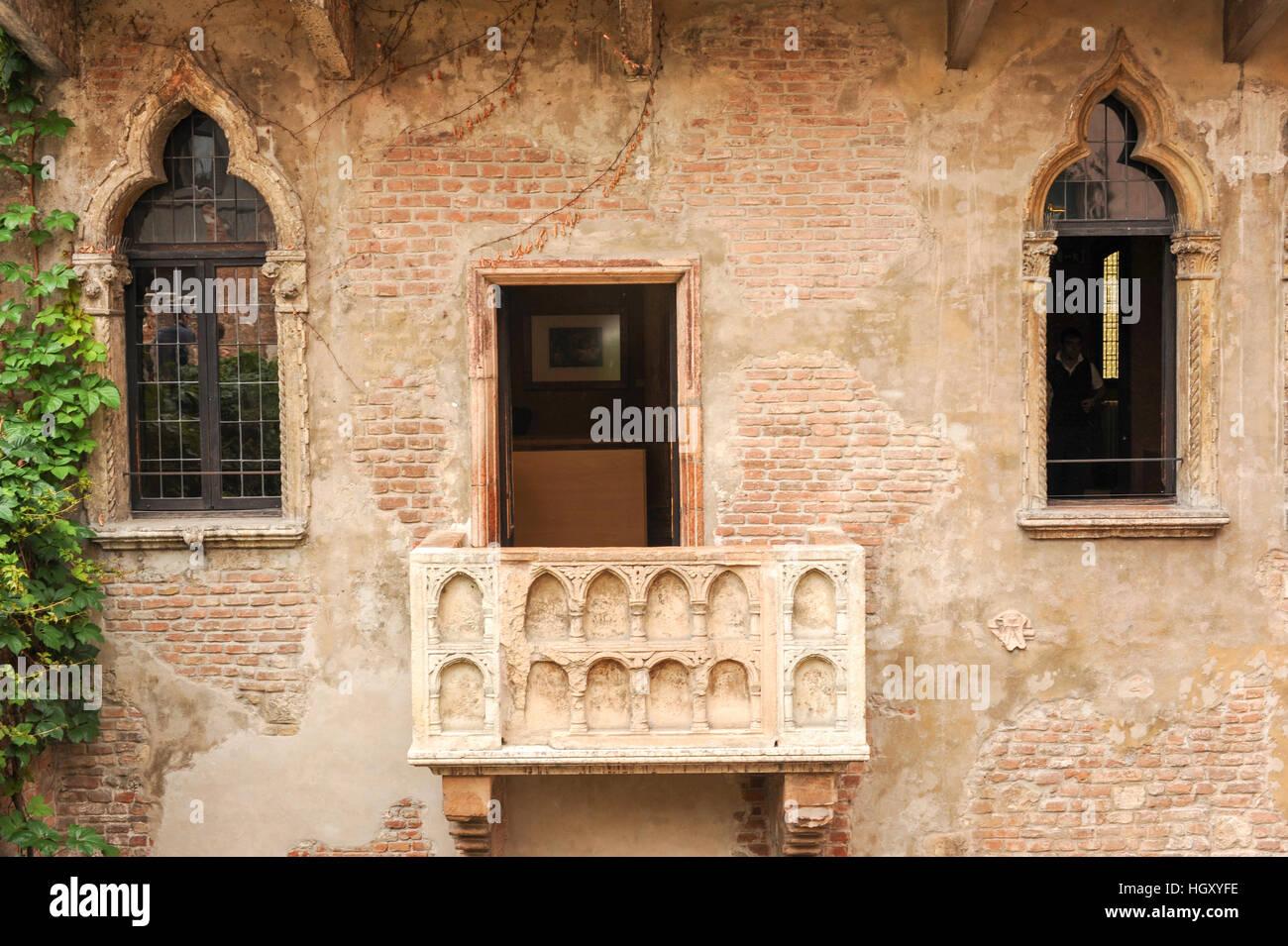 Romeo Und Julia Balkon In Verona Italien Stockfoto Bild 130899426
