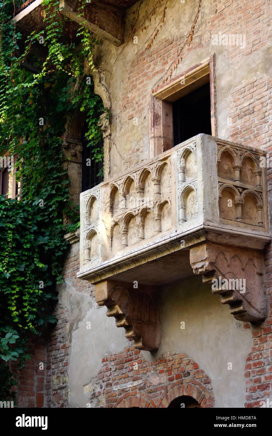 Verona Italien Balkon Von Romeo Und Julia In Gebeine Haus In