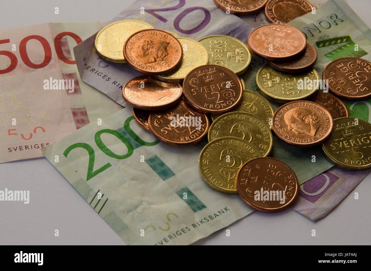 Neue Ausgabe Der Währung Scheine Und Münzen In Schweden 2016 2017