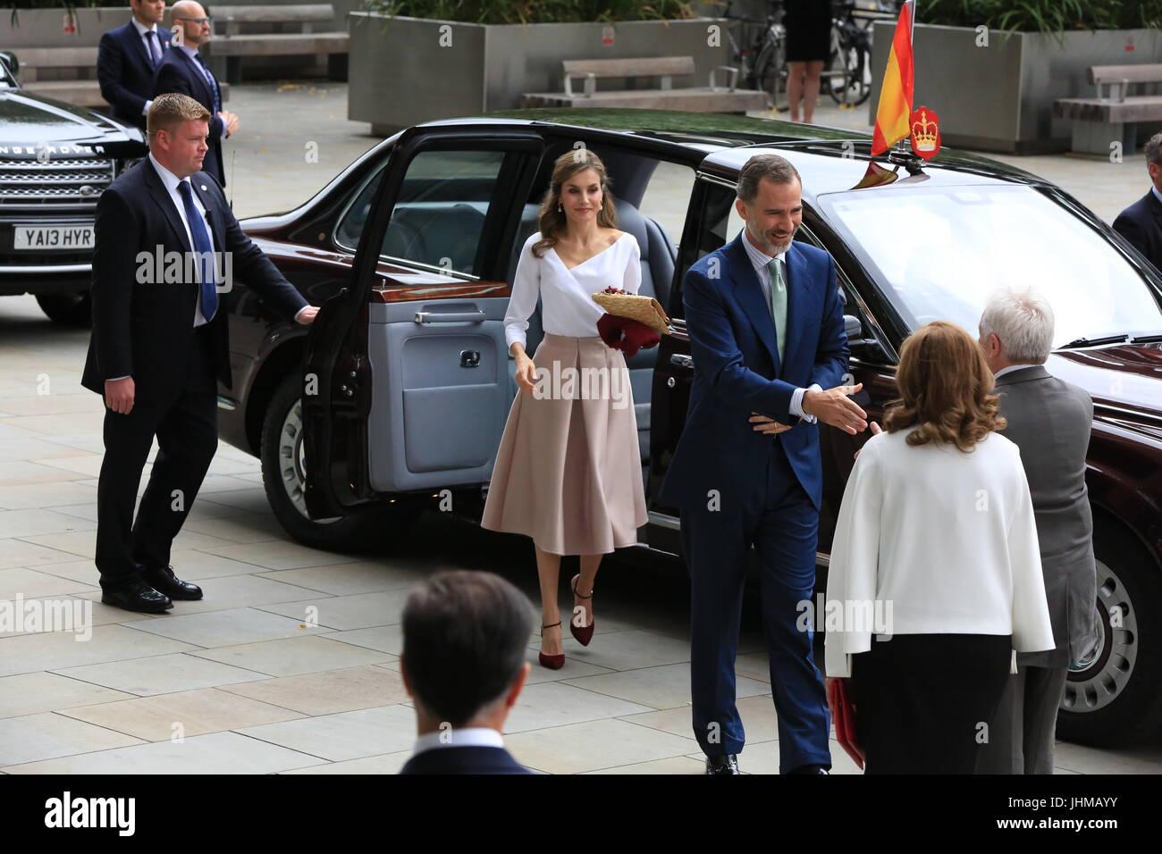 König Felipe Vi Von Spanien Und Seine Frau Königin Letizia