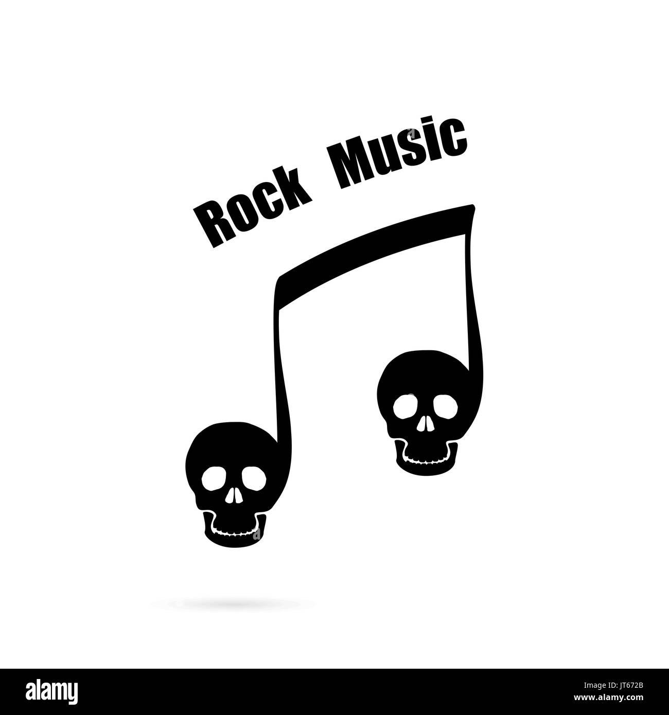 Musical Note Template   Musical Note Unterzeichnen Und Menschlicher Schadel Symbol Vektor