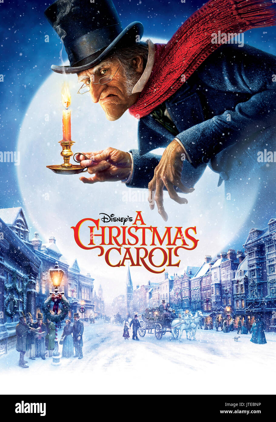 EBENEZER SCROOGE POSTER A CHRISTMAS CAROL (2009 Stockfoto, Bild ...