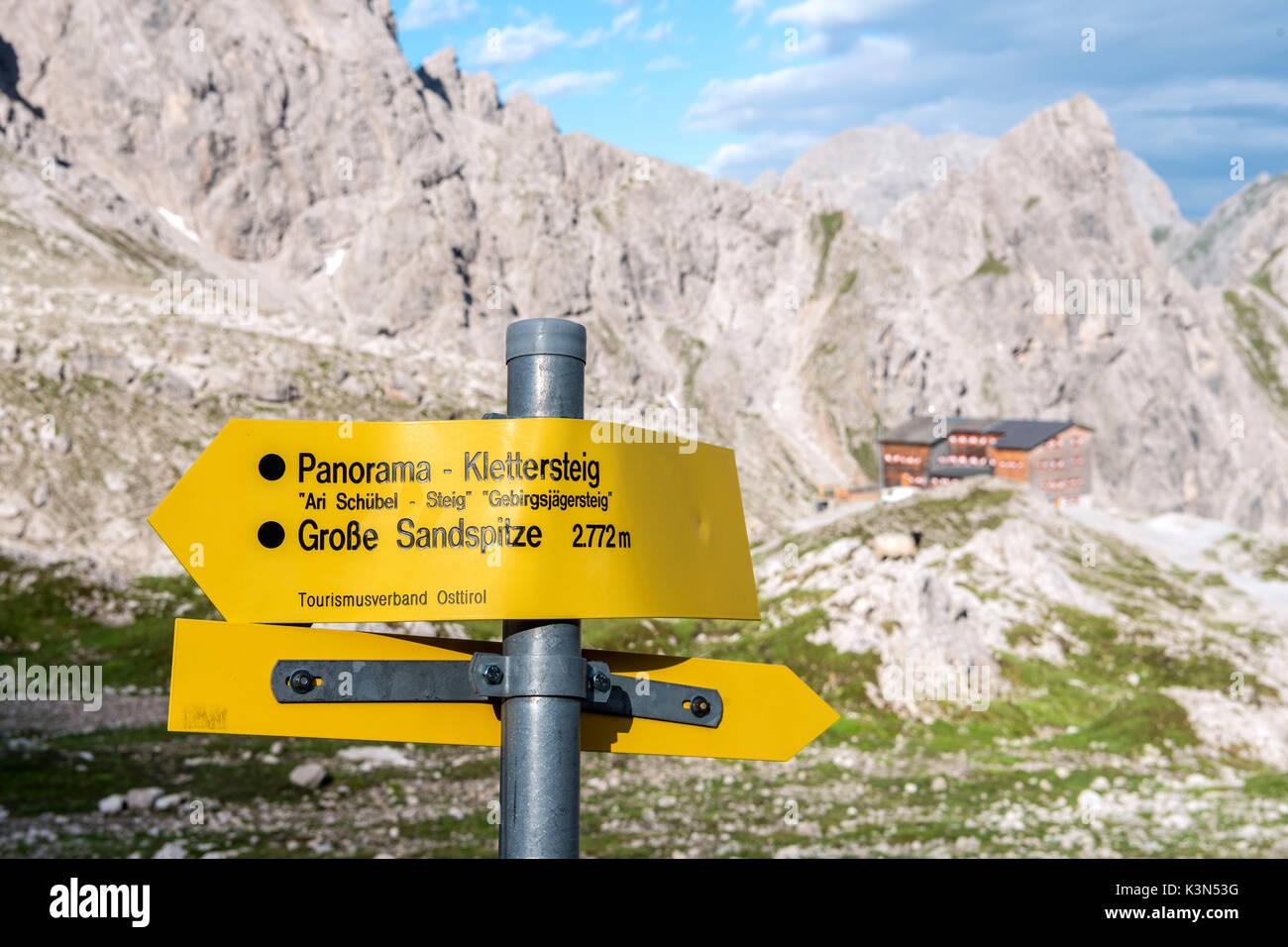 Klettersteig Lienz : Lienzer dolomiten osttirol Österreich stockfoto bild