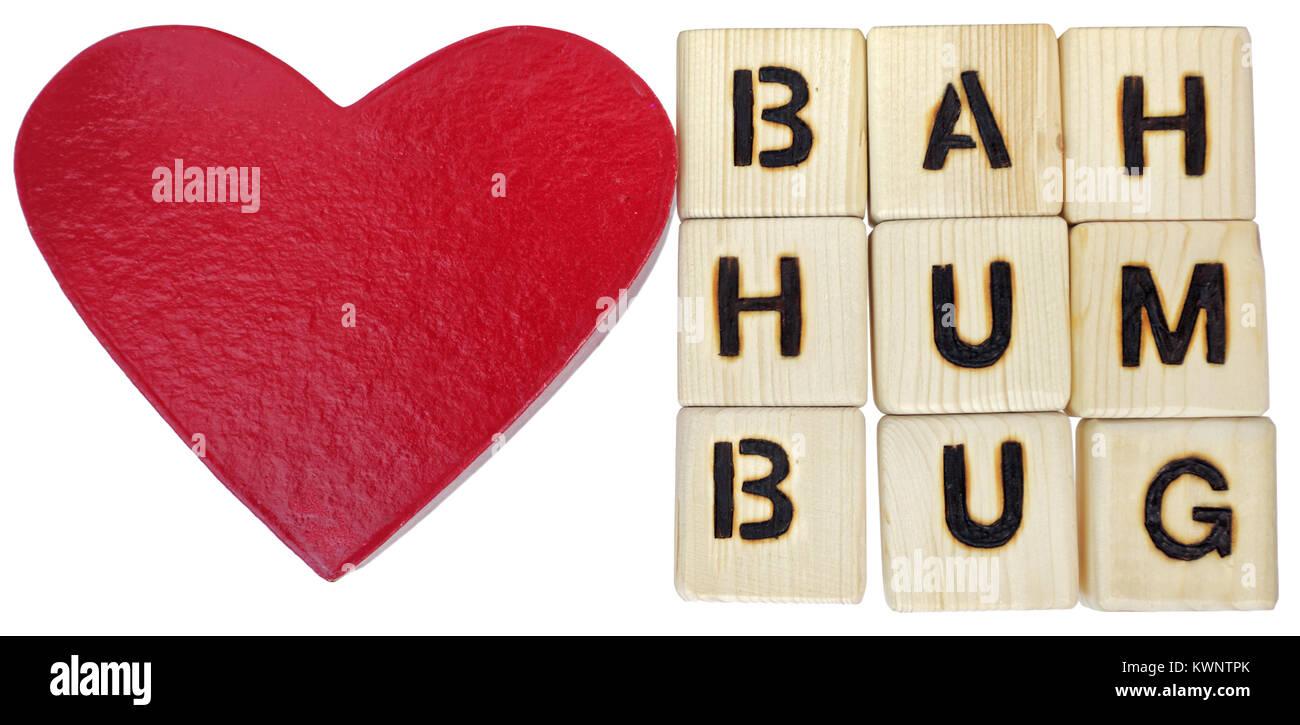 Bah Dummes Zeug Anti Verachtliche Valentinstag Stimmung Stockfoto