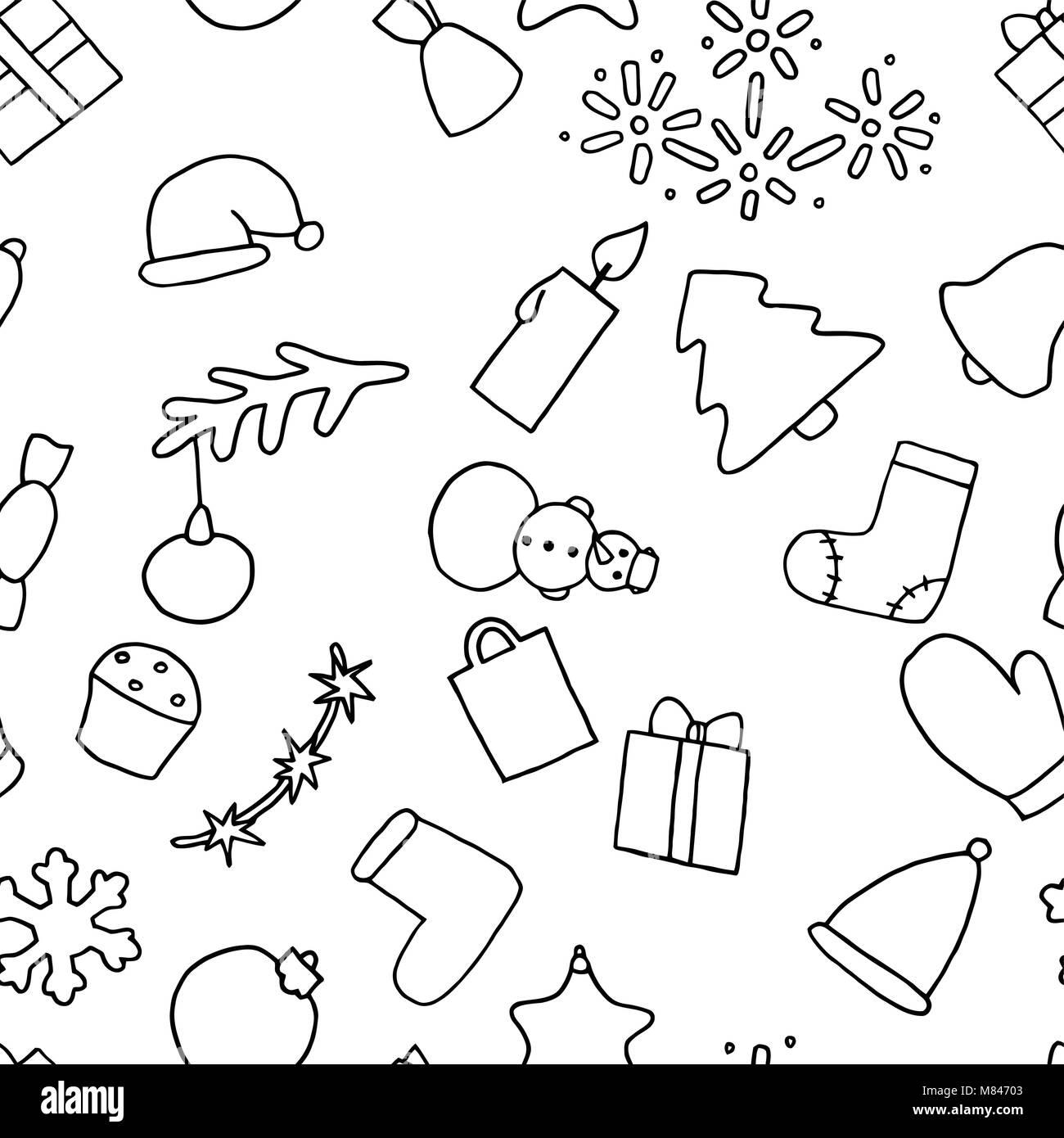 Neues Jahr nahtlose Muster Hintergrund. Weihnachten wallpaper ...