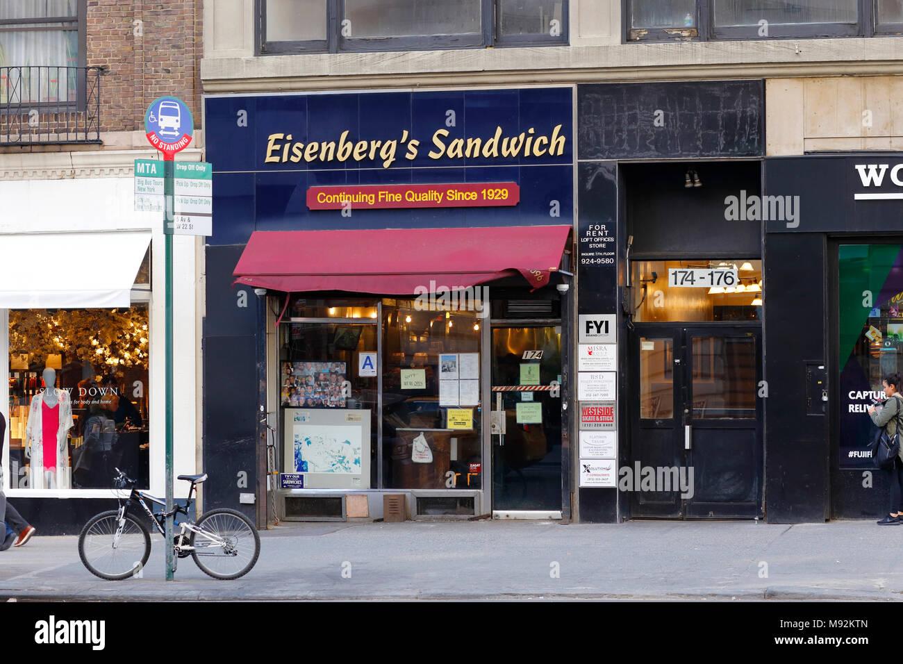 Das Eisenberg Sandwich Shop, 174 5th Ave, New York, NY