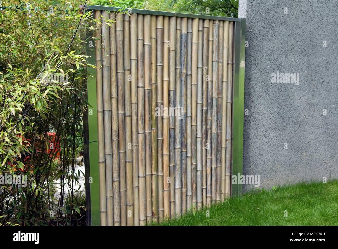 bambus; sichtschutz; bambusschutzwand stockfoto, bild: 177732565 - alamy