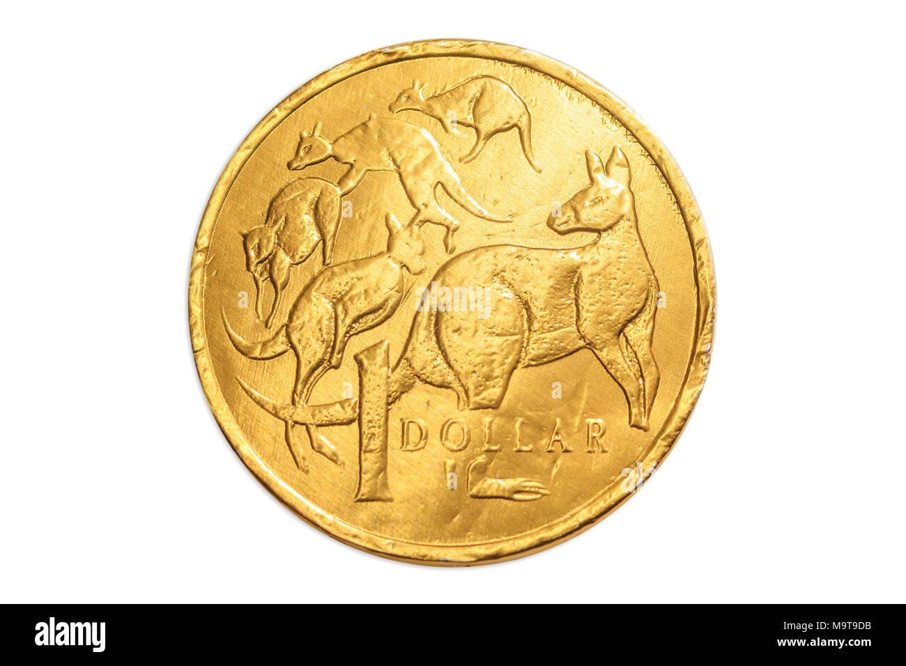 Australian Gold Schokolade Münze Von 1 Dollar Von Australien Aud