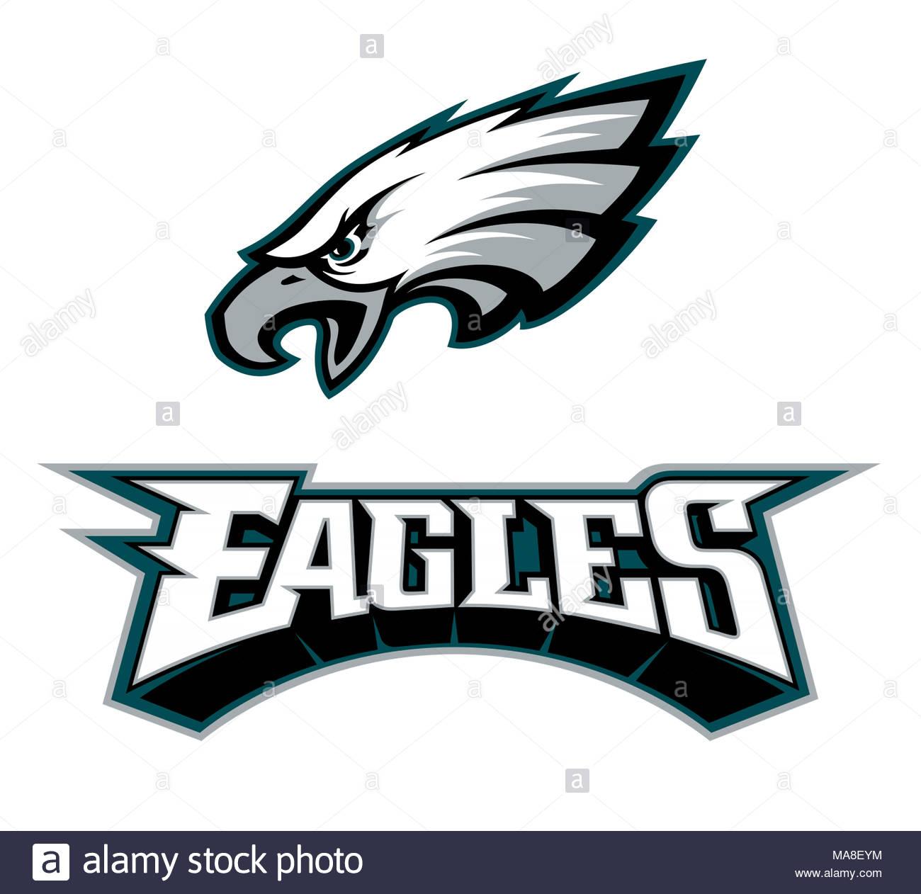 Philadelphia Eagles Logo Symbol Stockfoto Bild 178437608 Alamy