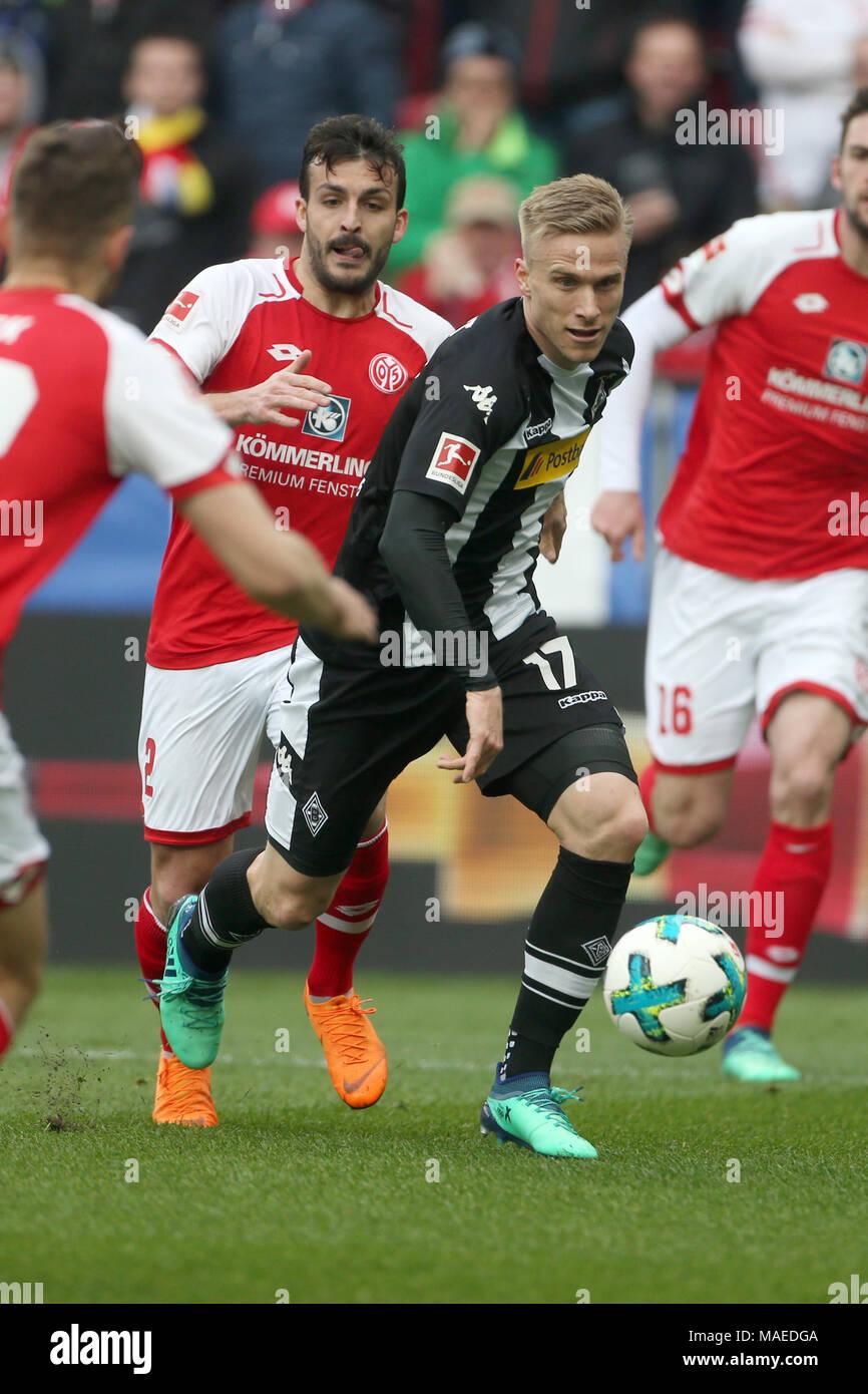 01 April 2018 Deutschland Mainz Fussball Bundesliga 28spieltag