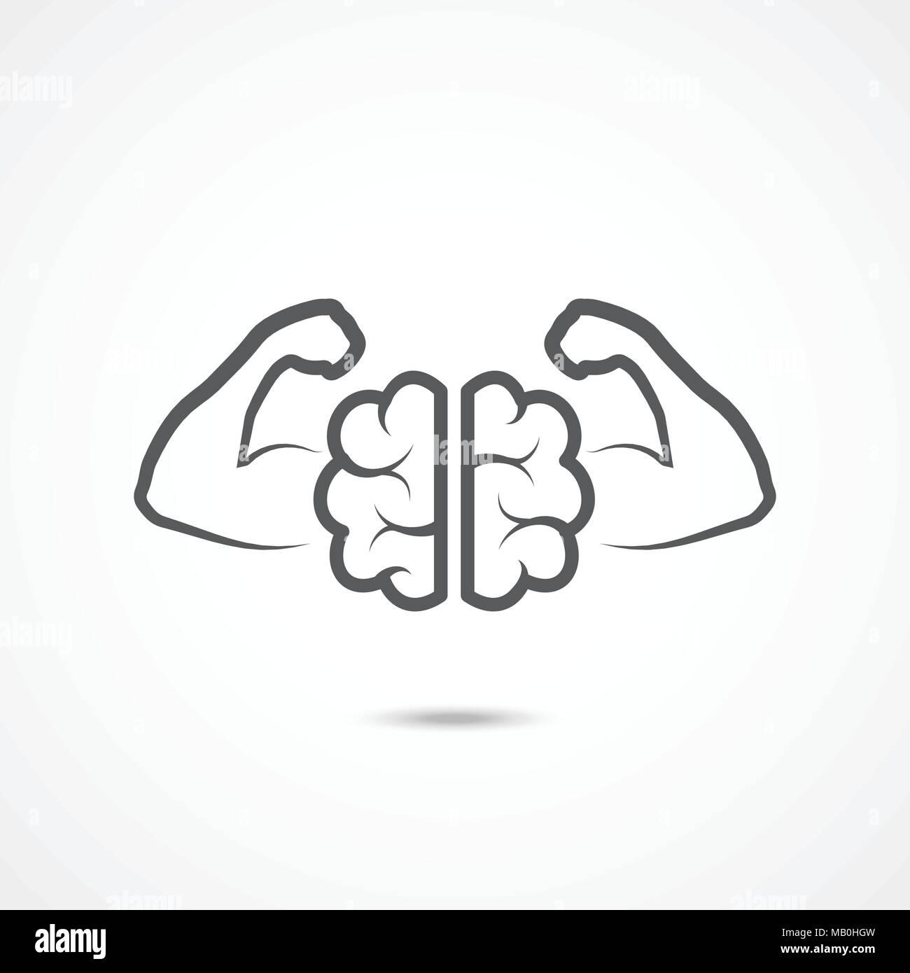 Willenskraft Symbol Auf Weißem Vektor Abbildung Bild 178878697