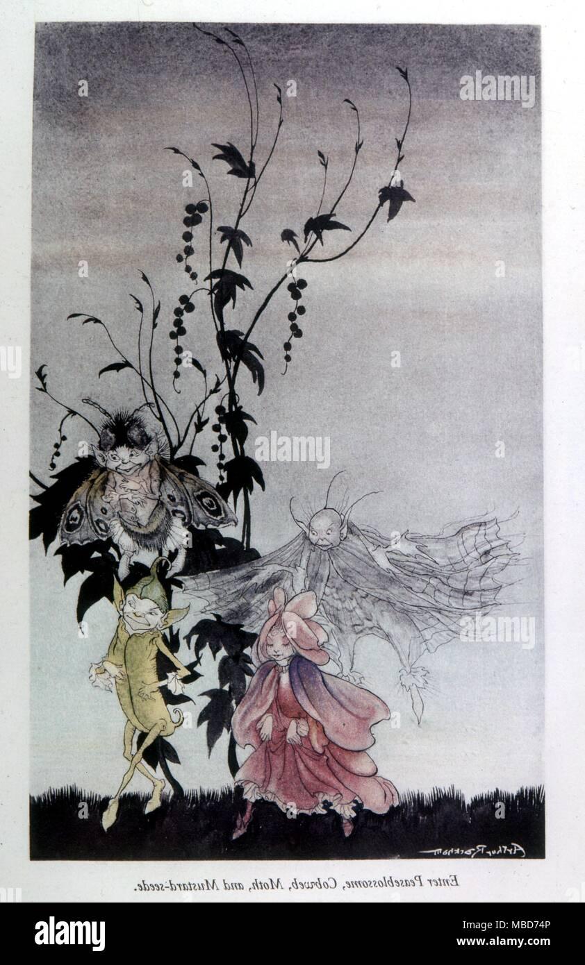 Elfen Feen Und Kobolde In Der Abbildung Von Arthur Rackham Aus