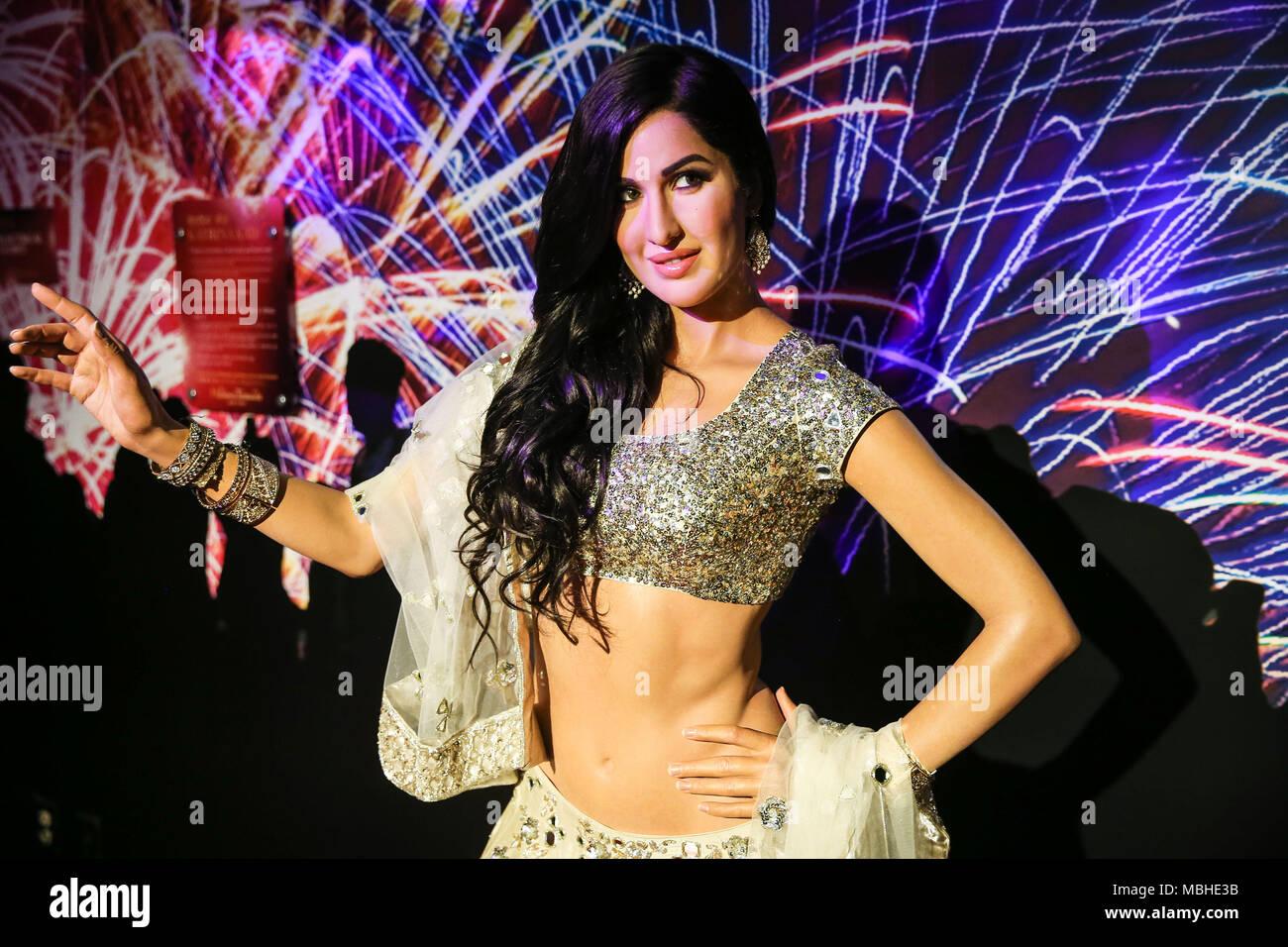 Wax Statue Der Indischen Schauspielerin Katrina Kaif Am Bollywood