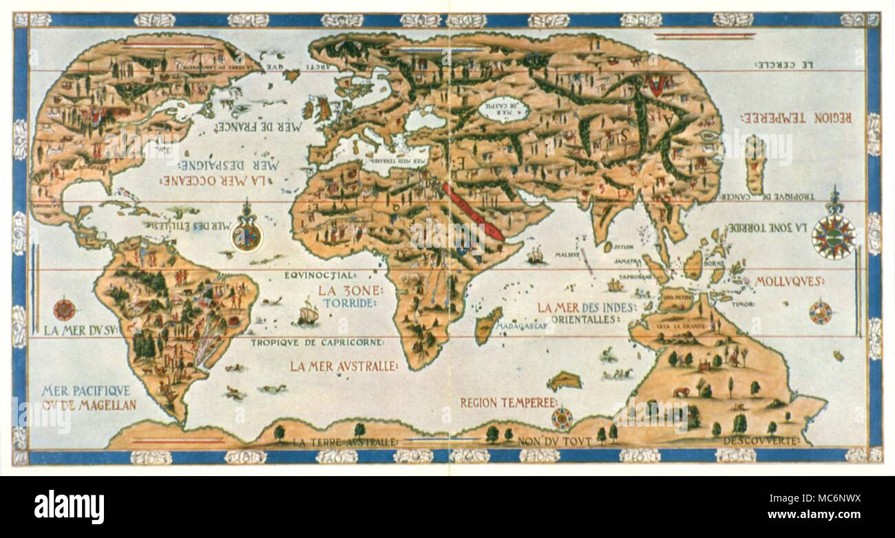 Karten Der Dauphin Karte Die Karte Welt Von Pierre Descelliers