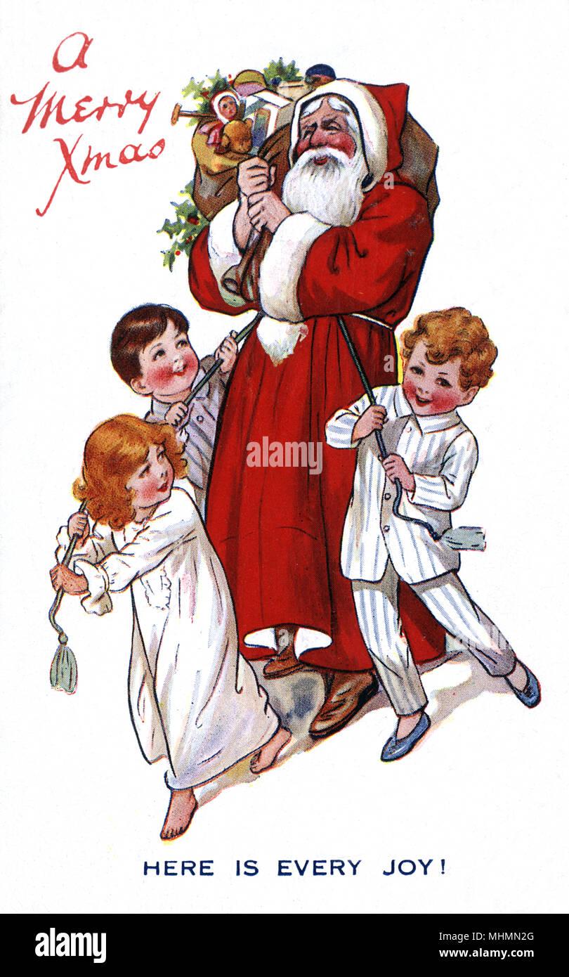 Frohe Weihnachten - Hier ist jede Freude! Drei Kinder in ihrer ...