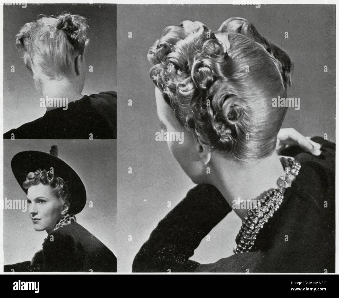 Frisuren Der Frauen Ihre Hüte Für 1938 Zu Passen Dies War Die