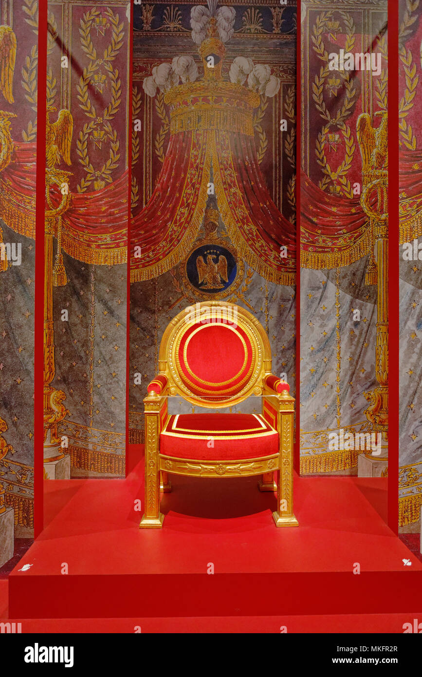 Napoleons Thron Stuhl Von Francois Honoré George Jacob Desmalter In