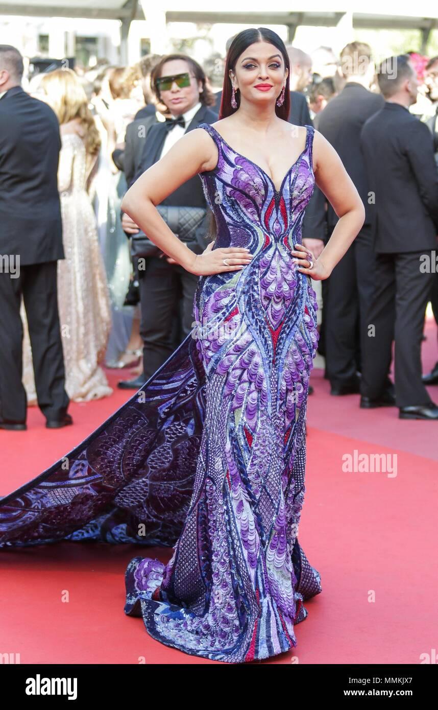 Cannes Frankreich 12 Mai 2018 Aishwarya Rai Modell Mädchen Der