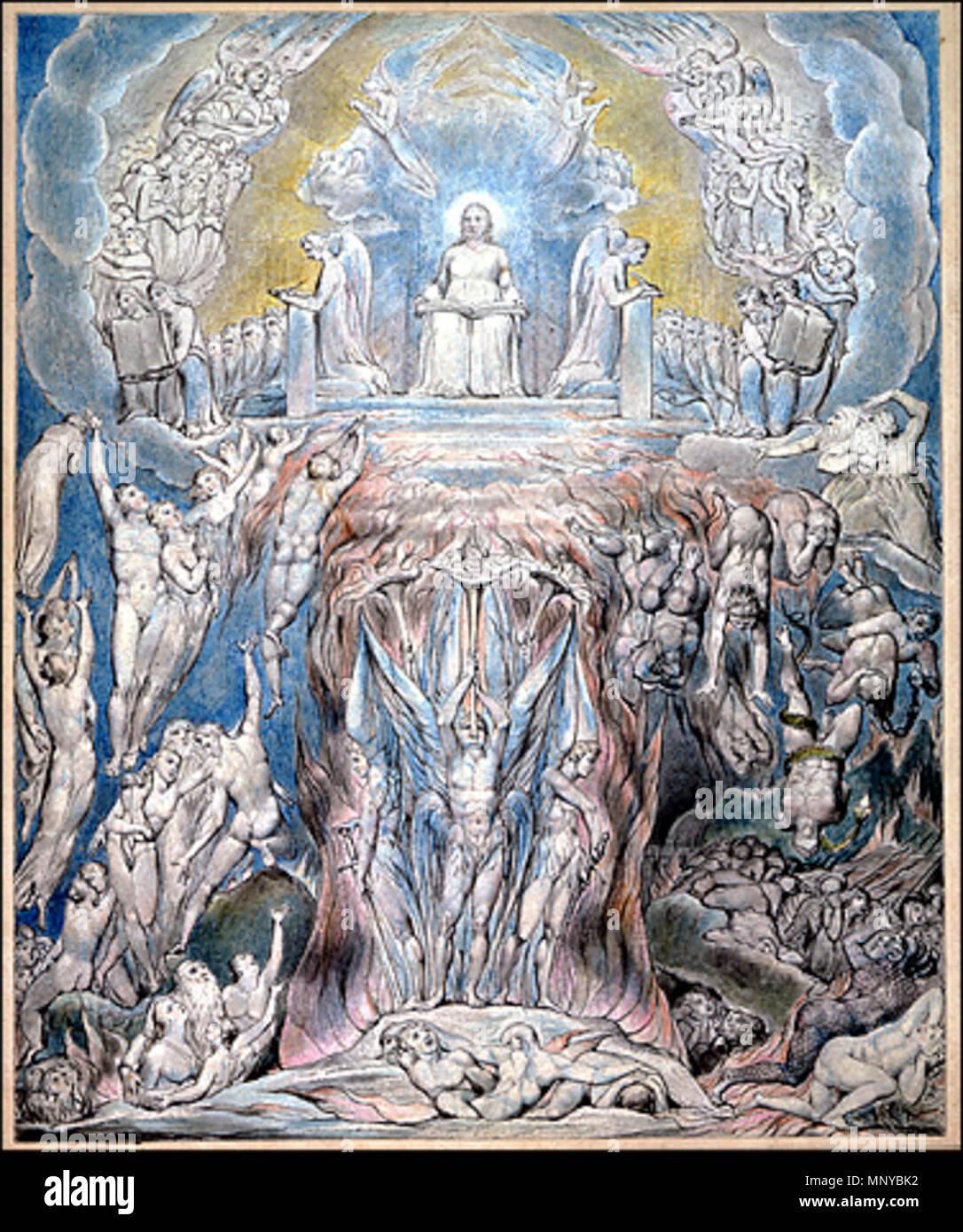 Eine Vision Des Jüngsten Gerichts Englisch Eine Von William Blakes
