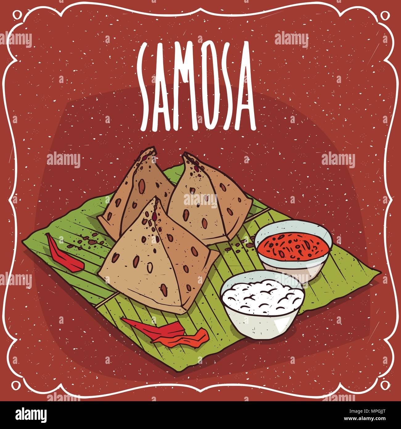 Traditionelles Geback Das Essen Der Indischen Kuche Snackbar