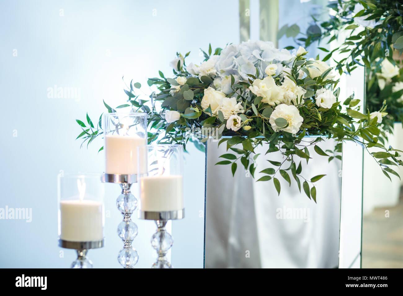 Hochzeit Dekoration Kerze Auf Der Veranstaltung Oder Hochzeitsfeier