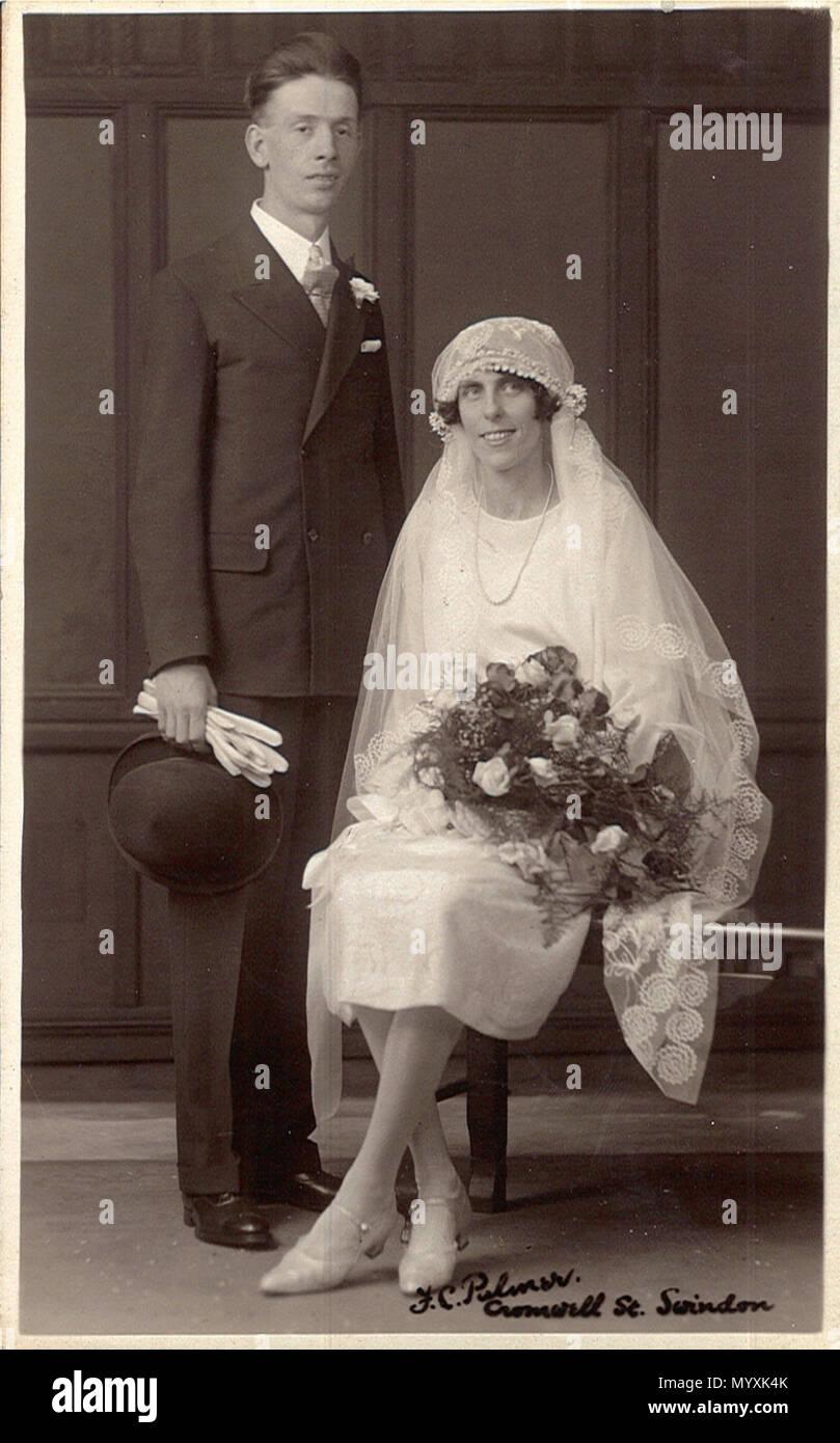 Portrait Foto Von Einer Hochzeit Paar In Swindon Wiltshire England