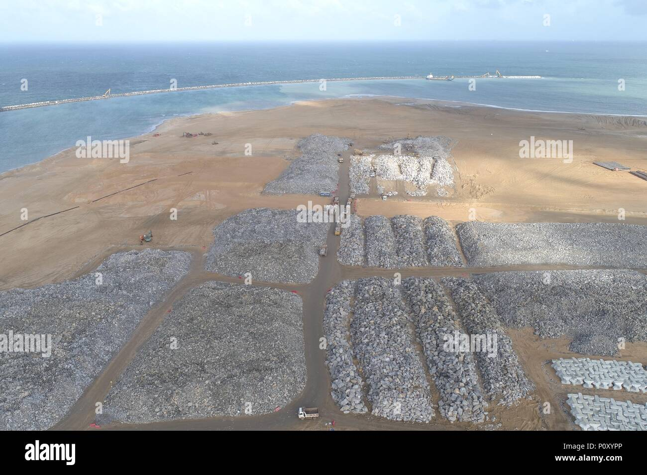 Colombo 10 Juni 2018 Die Steine Sind Auf Der Baustelle Der