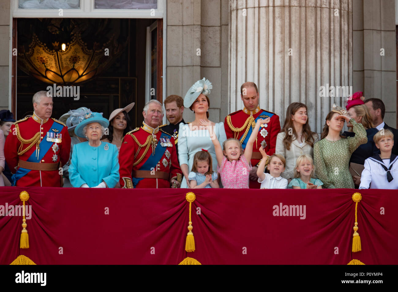 9 Juni 2018 In London Uk Britische Konigin Elizabeth Fuhrt Der