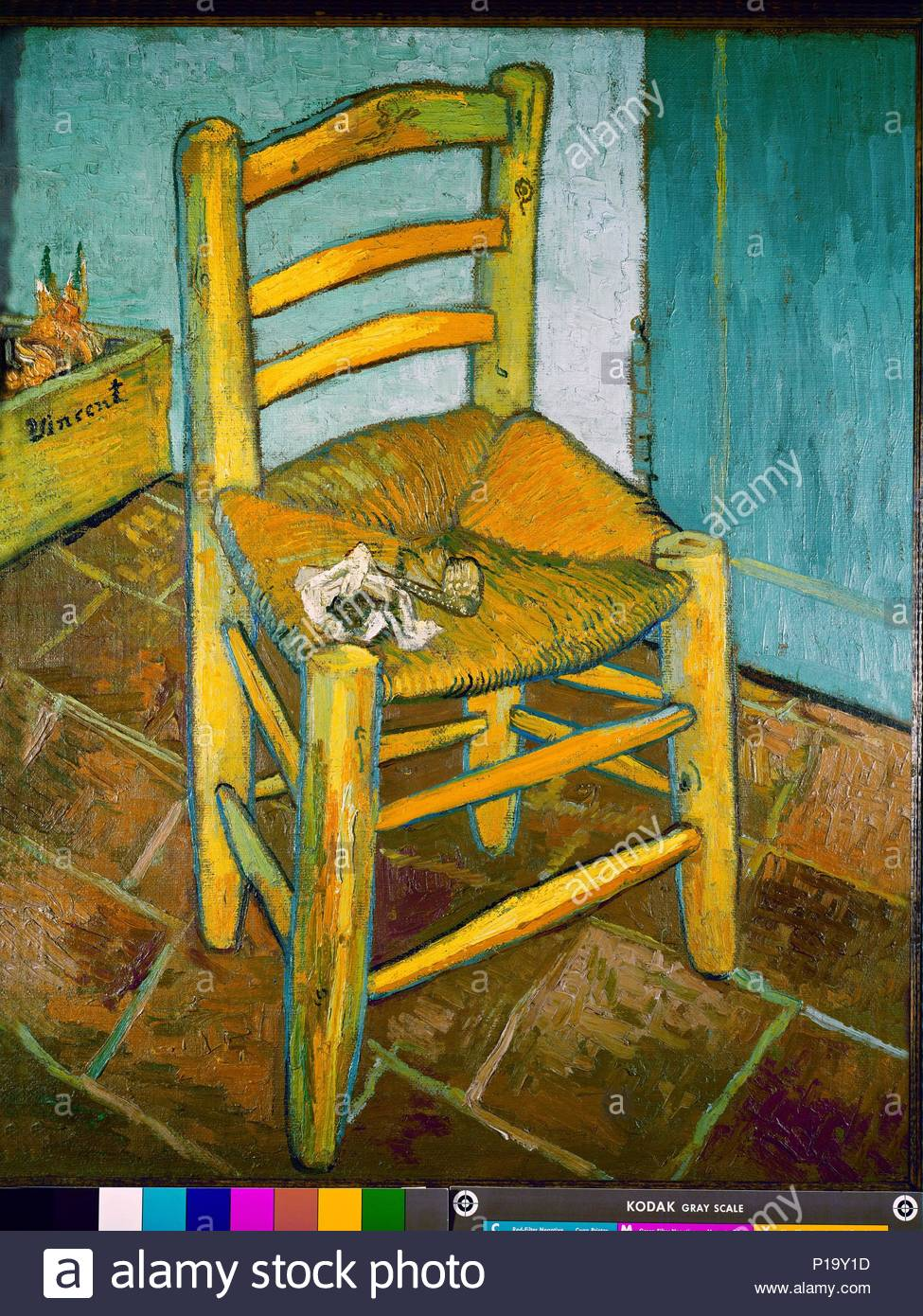 La Chaise De Vincent Van Goghs Chair 1888 Ol Auf Leinwand 918 X 73 Cm NG 3852 Autor Gogh 1853 1890 Lage National Gallery London