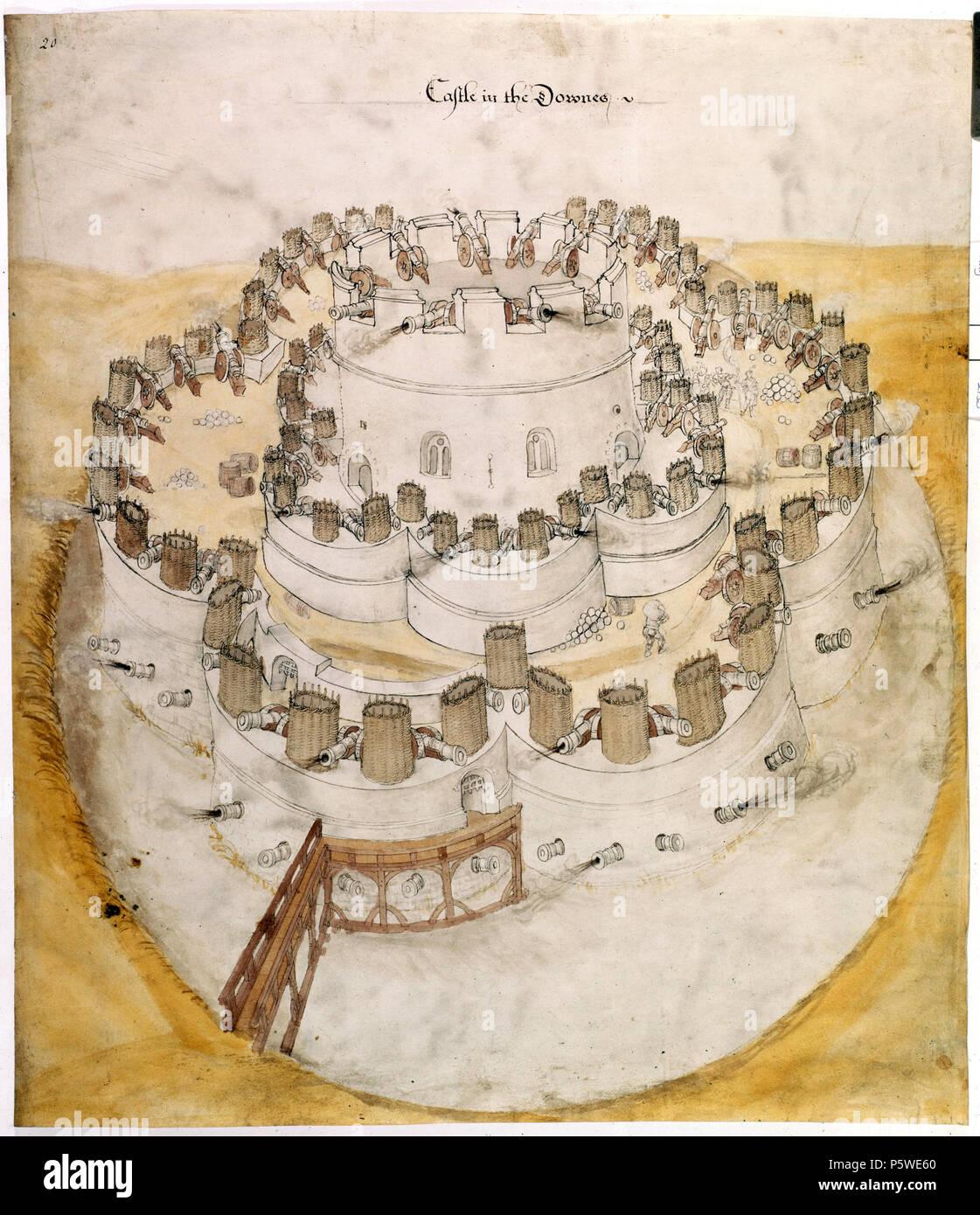 Na Englisch 1539 Entwurf Der Zukunft Deal Castle In Kent Zu