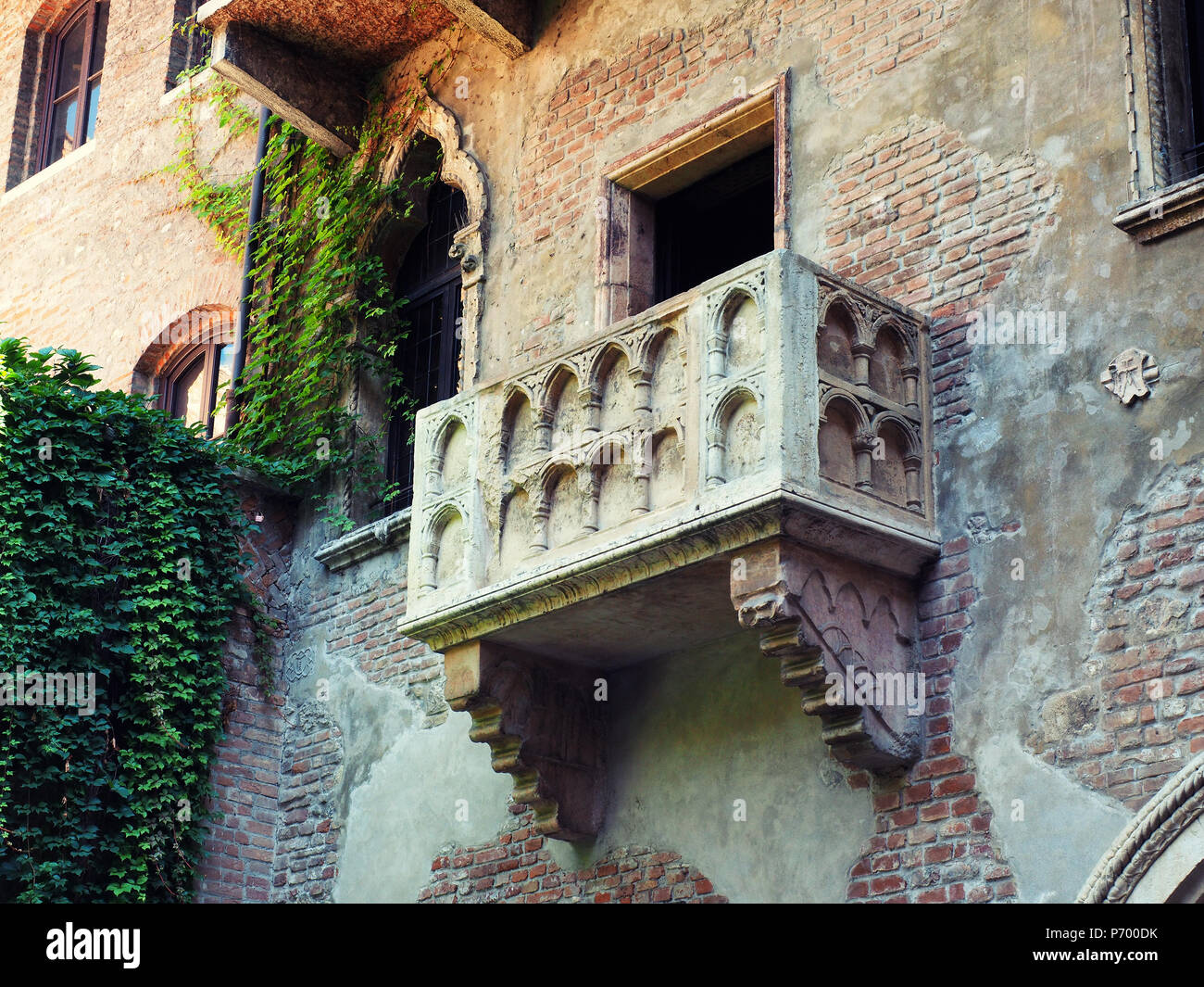 Romeo Und Julia Balkon In Verona Italien Stockfoto Bild 210827391